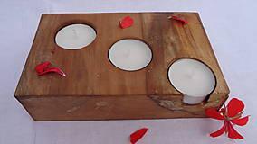 Svietidlá a sviečky - Svietnik drevený - 10983522_