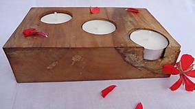 Svietidlá a sviečky - Svietnik drevený - 10983526_