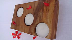 Svietidlá a sviečky - Svietnik drevený - 10983531_