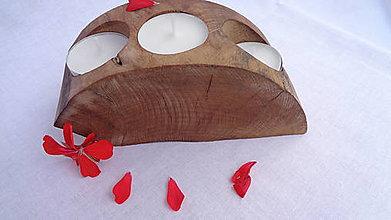 Svietidlá a sviečky - Svietnik drevený - 10983457_