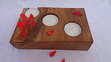 Svietidlá a sviečky - Svietnik drevený - 10983494_