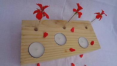 Svietidlá a sviečky - Svietnik + vázičky - 10983585_