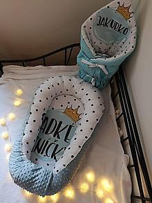 Textil - Set hniezdo pre bábätko a zavinovačka - 10982125_