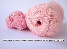 Hračky - sloník (púdrovo ružový) - 10981503_