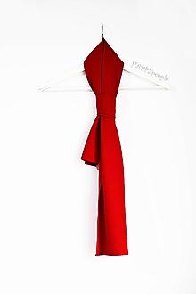 Šály - červená šatka - 10983233_