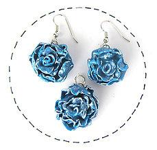Sady šperkov - Modré kvety - sada - 10981912_