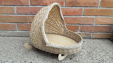 Košíky - Pletený kolísok - 10981798_