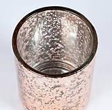 Svietidlá a sviečky - Luxusný svietnik-PINK - 10980769_