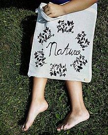 Veľké tašky - Plátená taška - príroda - 10981268_