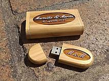 Drobnosti - Svadobný usb kľúč s krabičkou - 10983655_