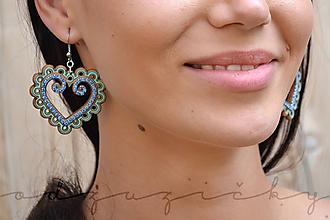 Náušnice - Náušničky Zuzička (4,5 cm - Tyrkysová) - 10984115_