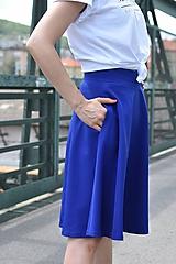 Sukne - Modrá kruhová sukňa - 10981776_