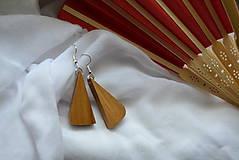 Náušnice - Náušnice - Čerešňové trojuholníčky - 10983480_