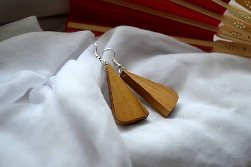 Náušnice - Čerešňové trojuholníčky