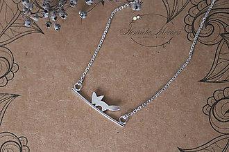Náhrdelníky - strieborný náhrdelník CUTE WILDNESS  (LÍŠKA) - 10982615_