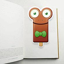 Papiernictvo - Nanuk záložka do knihy - žabka - 10983639_