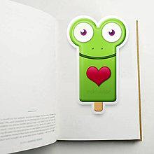 Papiernictvo - Nanuk záložka do knihy - žabka (srdiečko) - 10983640_