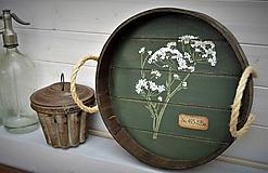 Nádoby - Okrúhly botanický podnos - 10981387_