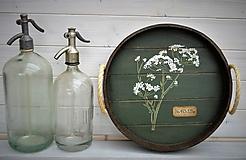 Nádoby - Okrúhly botanický podnos - 10981389_