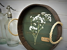 Nádoby - Okrúhly botanický podnos - 10981391_