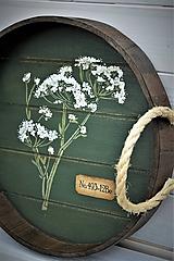 Nádoby - Okrúhly botanický podnos - 10981392_