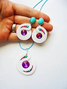 Sady šperkov - bielofarebná - 10985457_