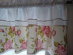 Úžitkový textil - Záclonka,volánik... - 10984540_
