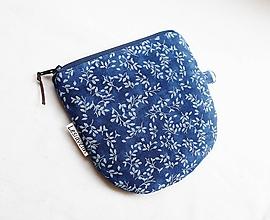 Peňaženky - Peňaženka/dokladovka - Modrotlač lístky - 10984882_