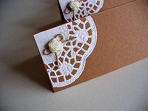 Papiernictvo - svadobné menovky krajkované - 10984678_