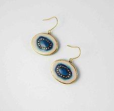 Náušnice - Tana šperky - keramika/zlato - 10984624_