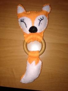 Hračky - Spiaca líška - hrkálka s roľničkou - 10984208_