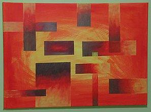 Obrazy - Moderný obraz s metalickou medenou - 10985714_