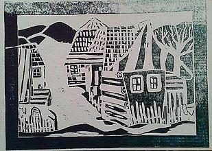 Grafika - Grafika - Dedinka (Tyrkysová) - 10985747_