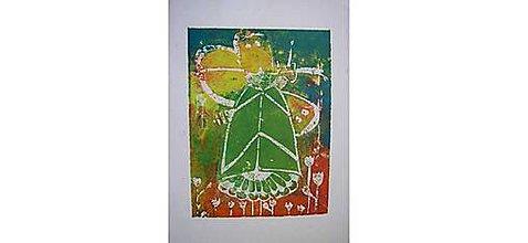 Grafika - Motýle (Zelená) - 10985752_