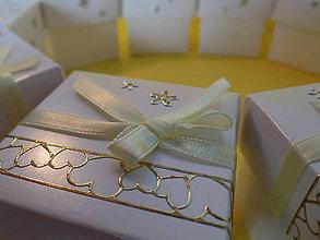 Darčeky pre svadobčanov - Darčekové krabičky pre svadobčanov - 10985822_
