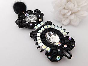 Náhrdelníky - Šujtášový prívesok Black pearl - 10985828_