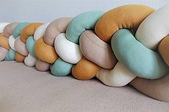 Detské doplnky - Zapletanec Štvorkáč LattePistácko, rôzne farby, dĺžka 50-500cm - 10985176_
