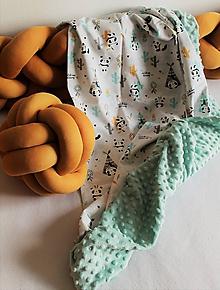 Textil - Minky deka Indipanda, viac farieb na výber, 100x70cm - 10985195_