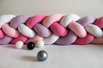 Detské doplnky - Zapletanec Štvorkáč Lilapinko, rôzne farby, dĺžka 50-500cm - 10985247_