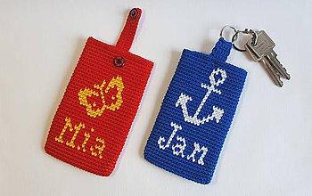 Návody a literatúra - Púzdro na mobil, kľúče, písmenká - návod na háčkovanie - 10984868_