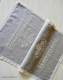 Úžitkový textil - obrus folk-ľanový - 10985315_