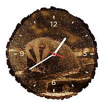 Hodiny - Drevené hodiny Jazvec lesný (Biele ručičky) - 10984345_