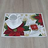 Úžitkový textil - DALILA - vianočná ruža v zlate - prestieranie 28x40 - 10984970_