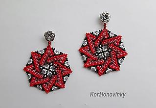 Náušnice - Korálkové náušnice Mexican earrings, Mexican folk art.... - 10984707_