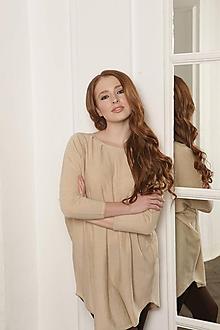 Svetre/Pulóvre - Béžový sveter - 100% kašmír - 10985771_