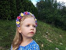 Ozdoby do vlasov - Kvetinovy vencek do vlasov s fialovym nadychom - 10985297_