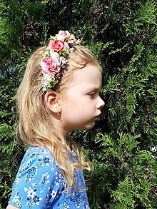 Ozdoby do vlasov - Kvetinovy vencek do vlasov s ruzami - 10985243_