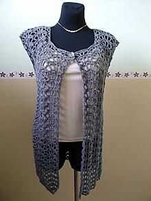 Iné oblečenie - Háčkovaná vesta - 10985675_