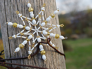 Dekorácie - vianočná hviezdička - 10985531_