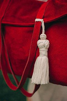 Drobnosti - Macrame žena prívesok - 10985589_